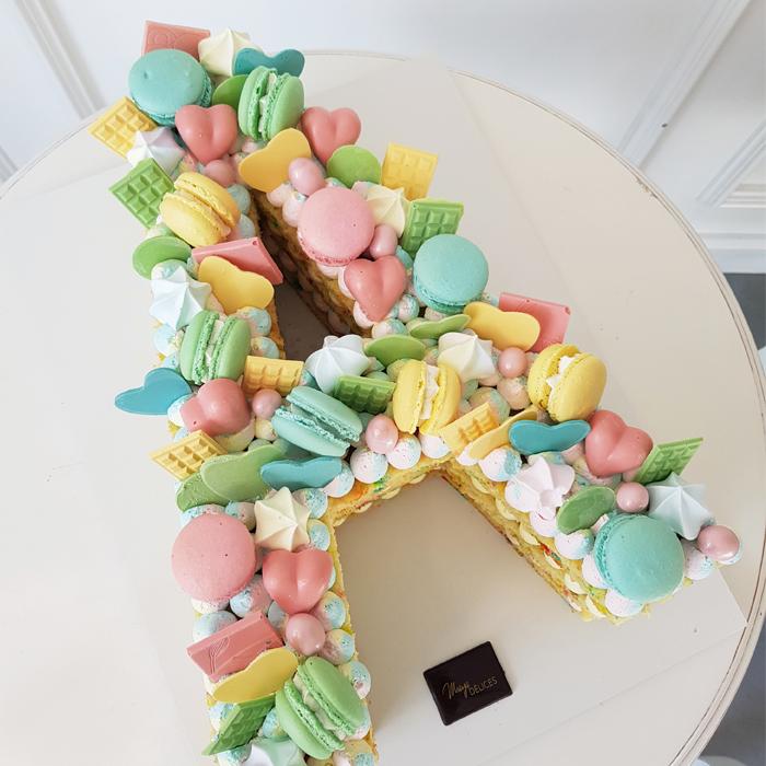 Confetti Letter Cake